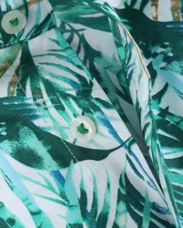 Detail Blue Industry Shirt Floral Green