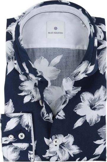 Blue Industry Shirt Flower Navy