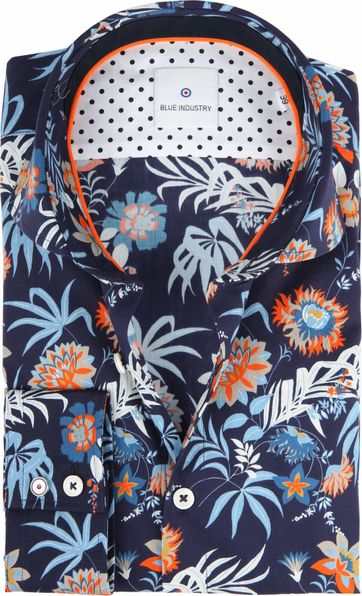 Blue Industry Shirt Flowers