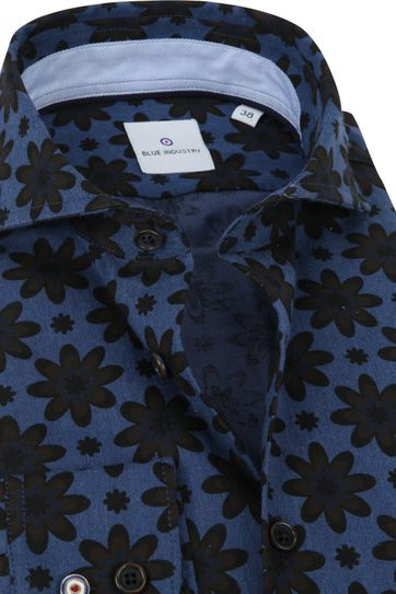 Blue Industry Shirt Flowers Blue