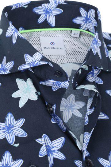 Blue Industry Shirt Flowers Dark Blue
