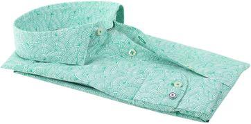 Detail Blue Industry Shirt Green Prints