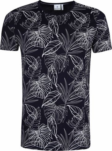 Blue Industry Shirt Leaf Dark Blue
