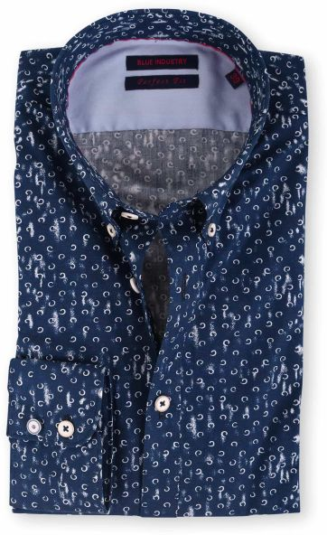 Blue Industry Shirt Navy Print