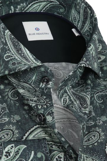 Blue Industry Shirt Paisley Green