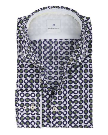 Blue Industry Shirt Patroon Groen