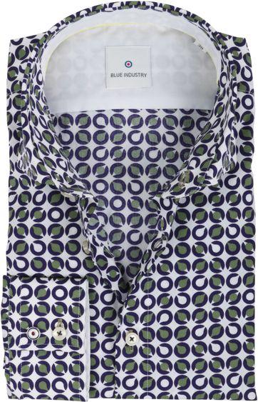 Blue Industry Shirt Pattern Green