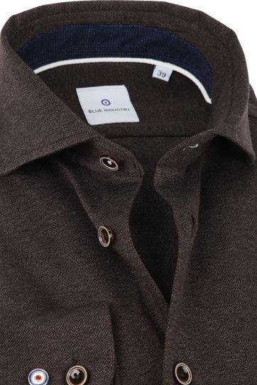 Blue Industry Shirt Pique Brown