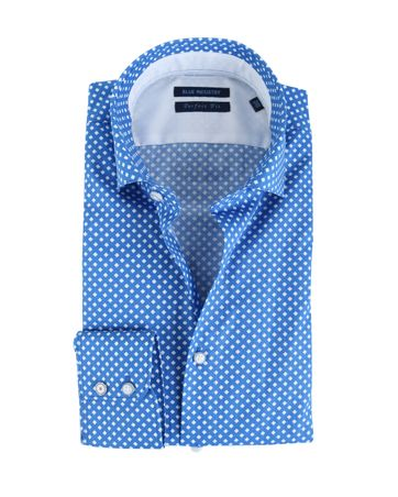 Blue Industry Shirt Print Blauw
