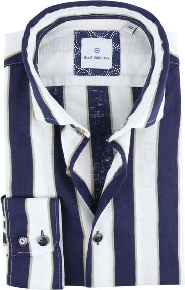 Blue Industry Shirt Stripe Blue