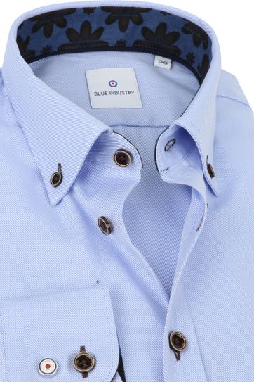 Blue Industry Shirt Stripes Blue