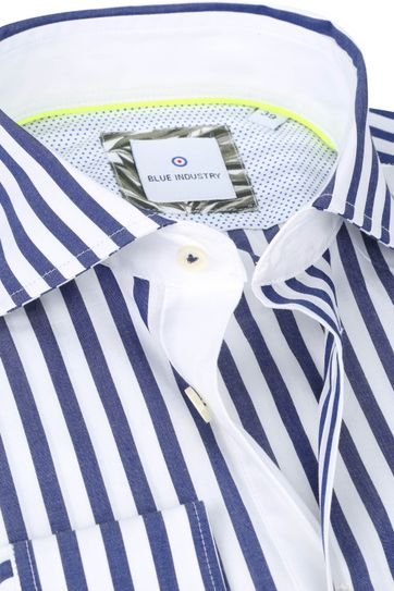 Blue Industry Shirt Stripes Blue White