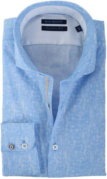Blue Industry Slim Fit Hemd Blau Karo