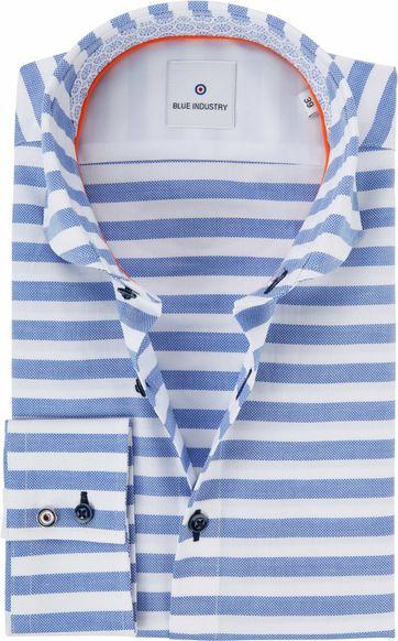 Blue Industry Streifen Hemd