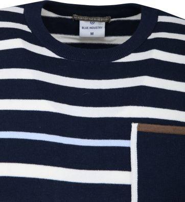 Blue Industry Stripe Pullover Navy