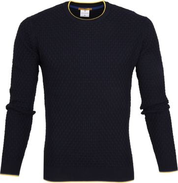 Blue Industry Structure Pullover Navy