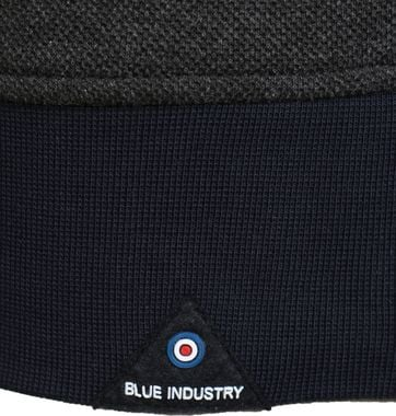 Detail Blue Industry Sweater Donkergrijs