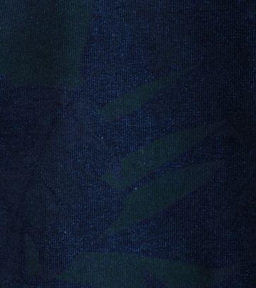 Detail Blue Industry Sweater Flower Print