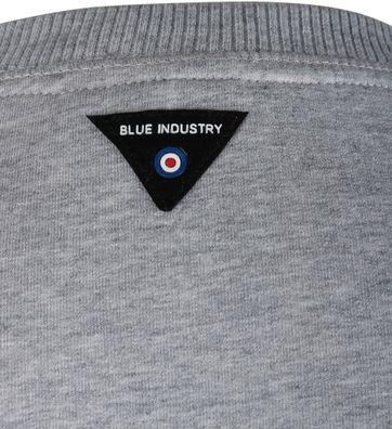 Detail Blue Industry Sweater Grijs