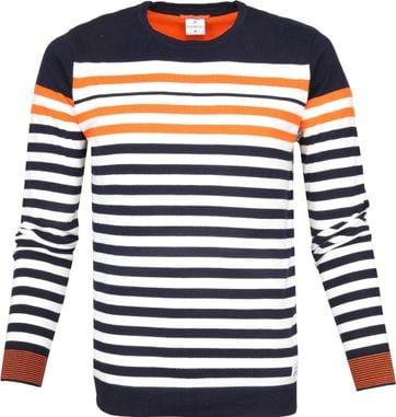 Blue Industry Sweater Knit Streifen