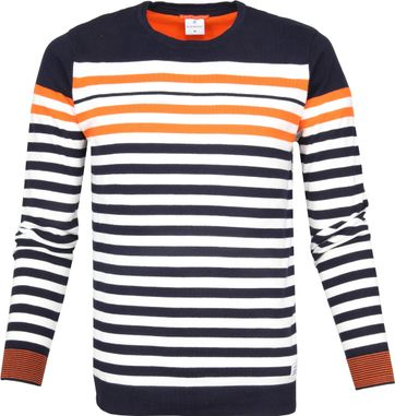 Blue Industry Sweater Knit Stripes