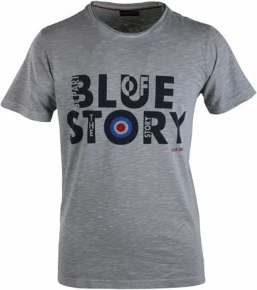 Blue Industry T-shirt Grijs Print