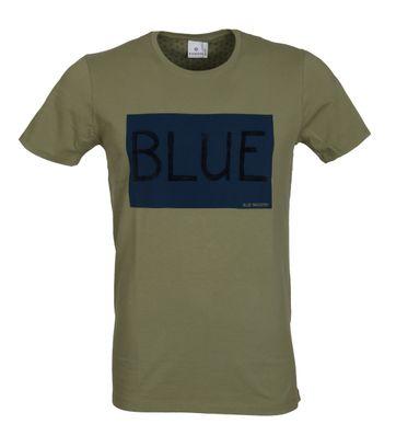 Blue Industry T-Shirt Logo Grün