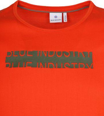 Blue Industry T-Shirt Logo Orange
