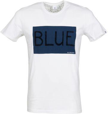 Blue Industry T-Shirt Logo Weiß