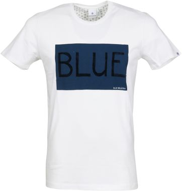 Blue Industry T-Shirt Logo Wit