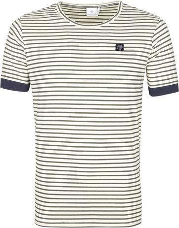 Blue Industry T Shirt M41 Stripes Dark Green