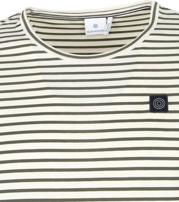 Blue Industry T Shirt M41 Stripes Dark Green