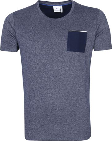 Blue Industry T Shirt Melange Navy
