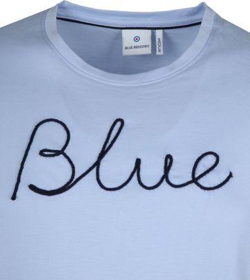 Blue Industry T-Shirt Sky Blauw