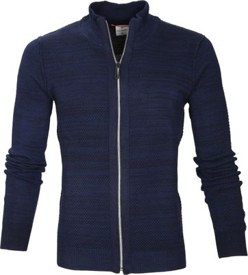 Blue Industry Vest Rits Navy