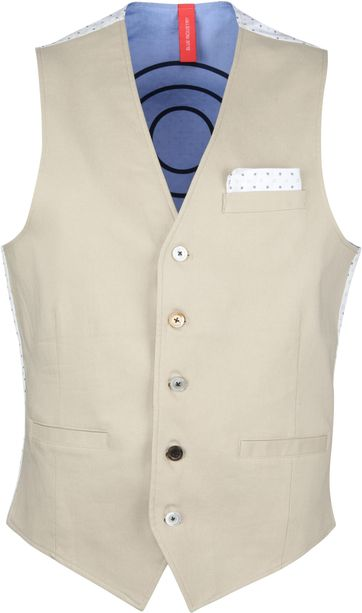 Blue Industry Waistcoat Beige
