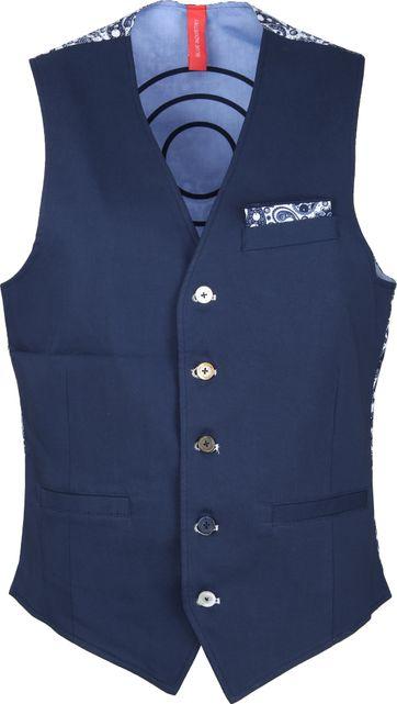 Blue Industry Waistcoat Dark Blue