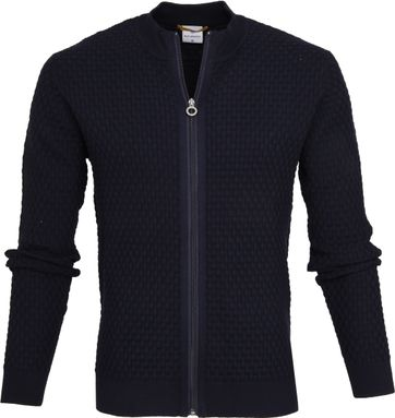 Blue Industry Zip Cardigan Navy