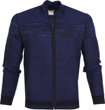 Blue Industry Zipper Cardigan Blue