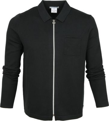 Blue Industry Zipper Cardigan Polo Donkergroen