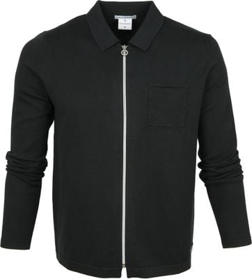 Blue Industry Zipper Cardigan Polo Dunkelgrün