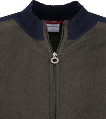 Blue Industry Zipper Vest Donkergroen