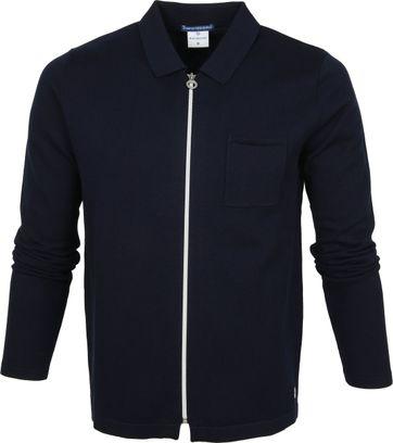 Blue Industry Zipper Vest Polo Donkerblauw