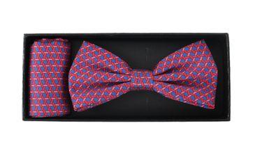 Bow Tie Silk + Pocket Sqaure Blue Pink