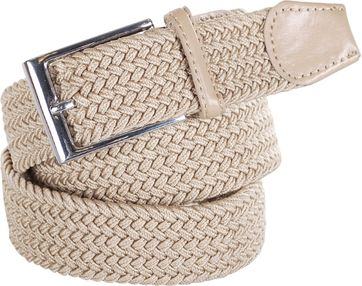Braided Belt Beige