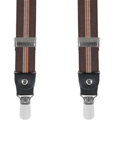 Braun Hosenträger X Form Streifen