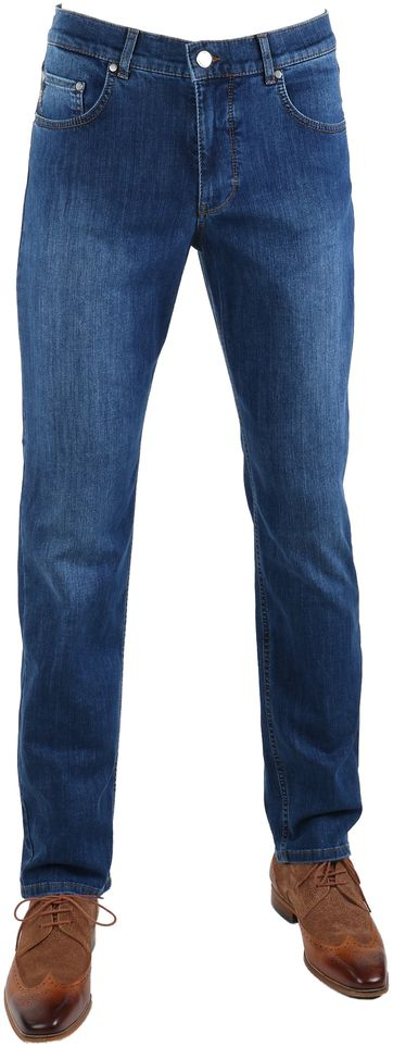 Brax Cooper Denim Jeans Blau Five Pocket