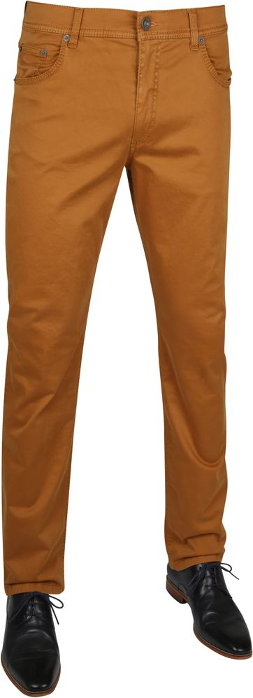 Brax Cooper Flex Trousers Curry Brown