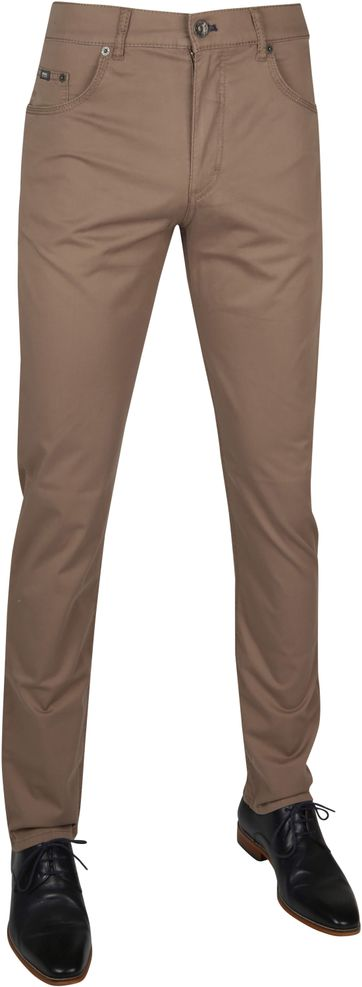 Brax Fancy Cooper Trousers Brown