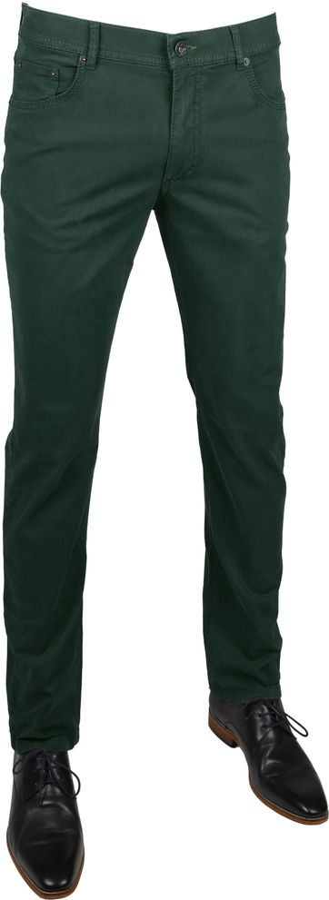 Brax Pants Cooper Fancy Dark Green